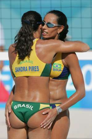 Olympics Beach Volleyball Brasil Sandra Pires