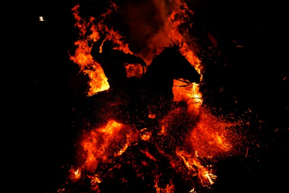 Spain San Anthony Bonfire