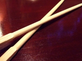 #697 When chopsticks come apartperfectly.